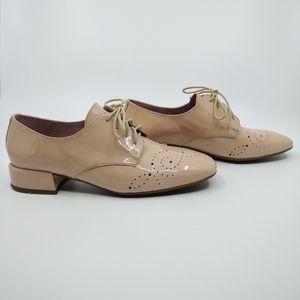 Wonders Blush Leather Eyelet Oxford Shoe